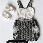 ~ Art Deco Baby ~ SUNSUIT Playsuit Vintage Lace & SHOES to fit Newborn-3 months